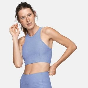 Outdoor Voices Athena Crop Top Lilac Blue Small